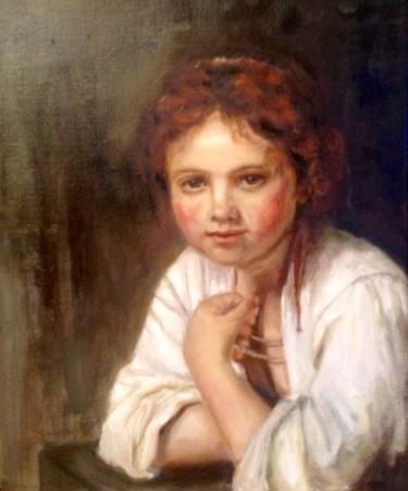 Mädchen am Fenster, Rembrand Kopie